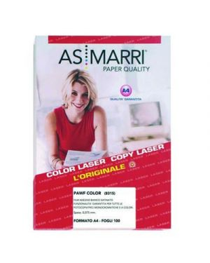 FILM BIANCO  ADESIVO MM.0,075 A4 FG.100 PAWF MARRI 8315 8315 by As Marri