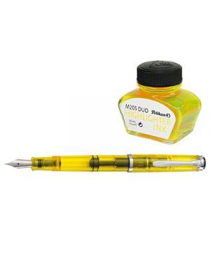 Stilo pelikan duo giallo m205  pennino m confezione regalo PELIKAN 975524 4012700975522 975524