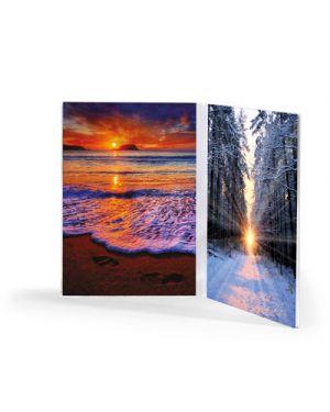 Portadepliant - portafoto in acrilico verticale doppia cm.13x18 LEBEZ 80410 8007509071717 80410