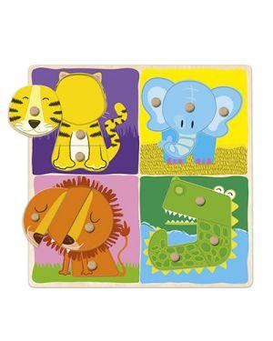 Puzzle in legno animali giungla GOULA 53111 8410446531112 53111