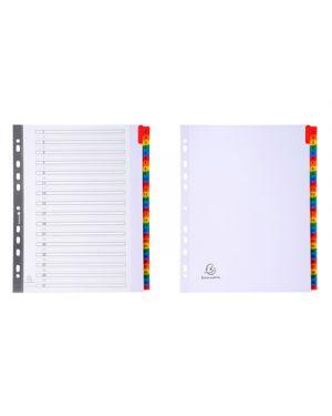 Intercalare maxi bianco 31 tacche multicolori numerate EXACOMPTA 4131 3130630041313 4131