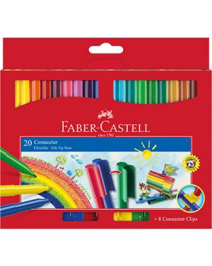 Pennarelli connector faber punta fine pz.20 FABER CASTELL 155520 9311279191209 155520 by No