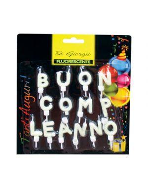 """Candela composizione scritta """"buon compleanno"""" fluorescente NO BRAND 5429 8006545127976 5429"""