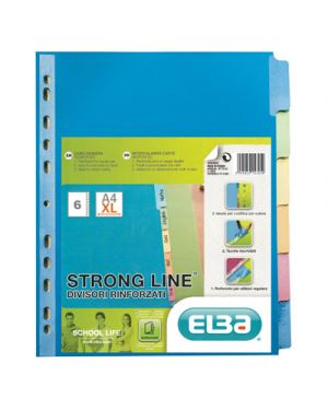 Intercalare in cartoncino colorato rinforzato strong line 6 tasti a4 400019787