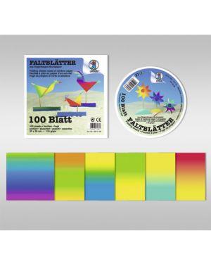 Blocco carta arcobaleno 10x10 gr.115 fg.100 in colori assortiti URSUS 1996899 4008525175667 1996899
