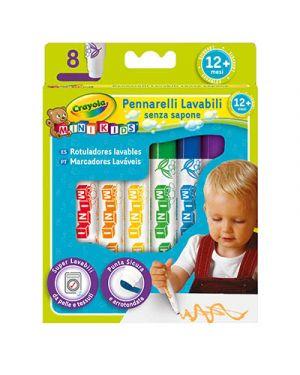 Pennarelli fibra crayola lavabile punta grossa 8 CRAYOLA 8324 5010065078635 8324