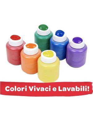 6 tempere lavabili Crayola 54-1204 71662112042 54-1204