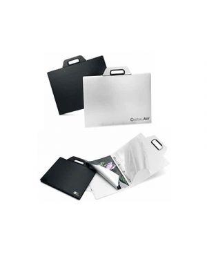 Cartella porta disegni con manico cristallart book f1 cm.30x37 bianco RI.PLAST 63253501 8004428032584 63253501