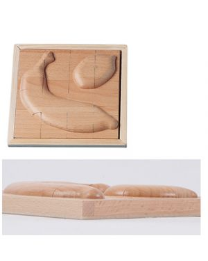 Puzzle in legno rilievo banana - limone BELEDUC 30217 4014888302169 30217 by No