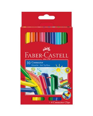 Pennarelli connector faber punta fine pz.10 FABER CASTELL 155510 9311279119104 155510