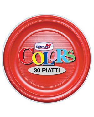 Piatti plastica piani diametro 22 pz.30 rosso DOPLA 1488 8008650011072 1488