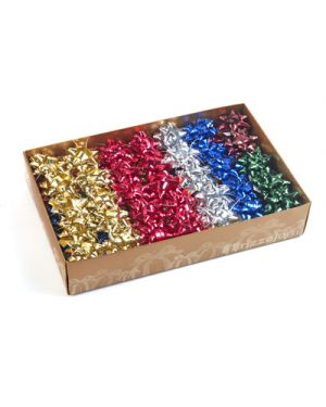 Stella adesiva rafia mm.14 pezzi 100 colori metallizati assortiti 3114