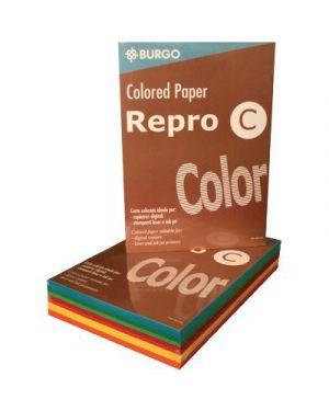 Carta fotocopie colorata forte gr.80 a4 5 colori fg.500 BURGO 8595 8021047715551 8595