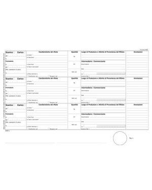 Blocco registro rifiuti per detentori modello a flex 100 fg. 21 x 29,7 FLEX 165820000 8010838013945 165820000