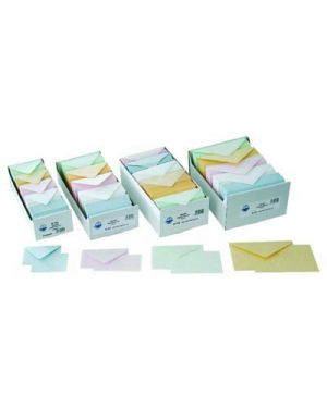 Biglietti - buste formato 4 colori tenui assortiti pz.250 - 250 CARTOTECNICA FTC 3107 8005427041508 3107