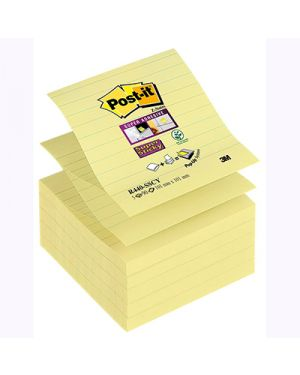 Post it ricambio z notes super sticky xl 101x101 giallo canary a righe 33702