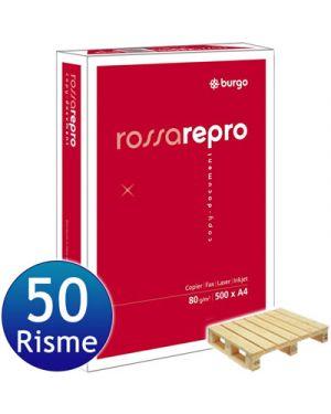 Carta fotocopie repro rosso gr.80 a4 fg.5 8133
