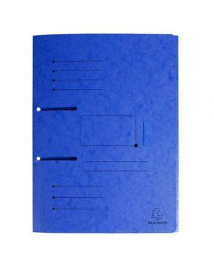 Cartellina 3 lembi  per raccoglitori con fori punchy blu 447002