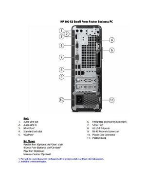 Hp 290 g3 sff i3-10100 8 - 256 w10pro HP Inc 23H11EA#ABZ 196068590185 23H11EA#ABZ