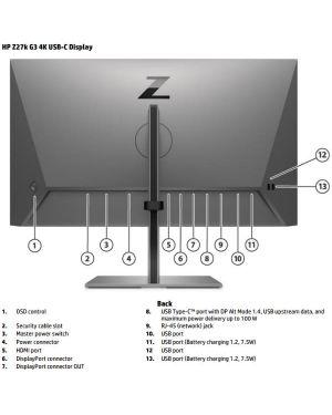 Hp z27k g3 4k usb-c lan display HP Inc 1B9T0AT#ABB 195122249458 1B9T0AT#ABB