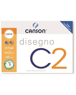 ALBUM C2 4ANG LISCIO 24X33CM 120G 100500447A by Canson