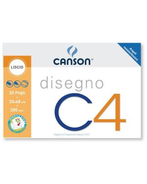 ALBUM C4 4ANG LISCIO 33X48CM 200G 100500453 by Canson