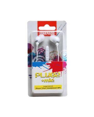 Auricolari microfono white plugz  f Maxell 303760 4902580771928 303760 by No