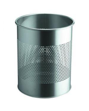 Cestino 15lt argento met Durable 3310-23 8710968448517 3310-23