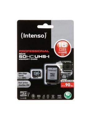 Micro sd con adattatore 16gb uhs Intenso 3433470 4034303022304 3433470