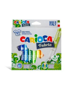 Pennarelli carioca fabric per tessuto pz.12 CARIOCA 40957 8003511409579 40957 by No
