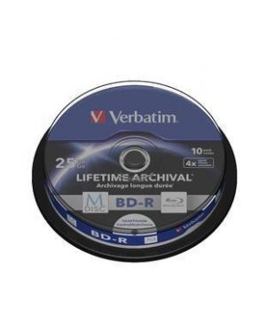 M-disc bd-r -25gb-4x spindle 10 Verbatim 43825/10 23942438250 43825/10
