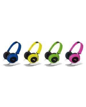 Cuffie hp smart fluo blu microfono Meliconi 497438BA 8006023245130 497438BA
