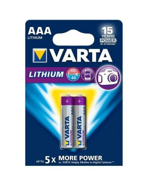Aaa litio x2   conf.da 2 Varta 6103301402 4008496680399 6103301402