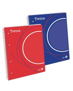 Blocco spiralato twins a4 fg.80 gr.80 1r BIEMME ARTI GRAFICHE 112754 8008234127540 112754