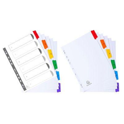 Intercalare bianco 6 tacche multicolori numerate 1106 by Exacompta
