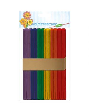 Bastoncini in legno 15x1cm colorati URSUS 42210002 4008525210443 42210002