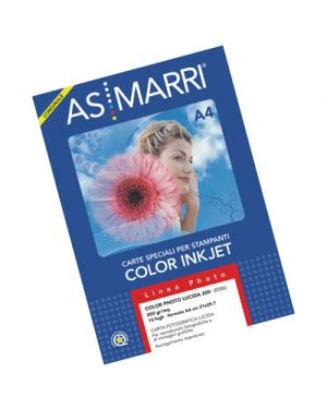 Carta color photo lucida gr.200 a4 fg.10 marri 8609 AS MARRI 8609 8023927086096 8609