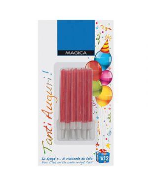 Candelina per torta magica con supporto rosso NO BRAND 709 8006545127617 709