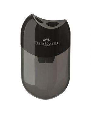 Temperamatite faber 2 fori c.contenitore nero 183500