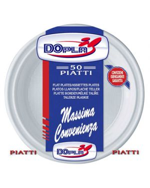 Piatti polpa di cellulosa bianchi diametro 22 piani pz.50 DOPLA 7701 8000536011077 7701