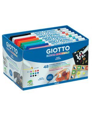 Pennarelli giotto decor materials schoolpack pz.48 da 4x12 colori GIOTTO 524600 8000825524608 524600 by Giotto