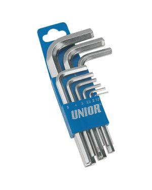 Chiave esagonale in acciaio nichelata pz.9 misure 1,5-10 UNIOR 607852 3838909078526 607852