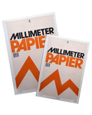 Blocco carta millimetrata 23x33 fg.10 3445.5 3446