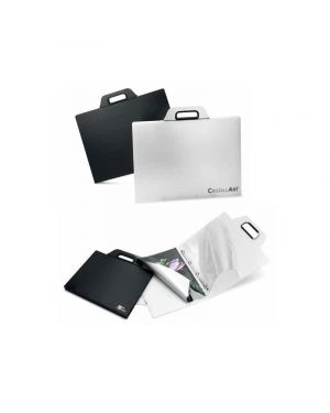 Cartella porta disegni con manico cristallart book f2 cm.40x52 nero RI.PLAST 63355013 8004428032614 63355013