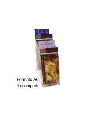 Vaschetta portadepliant verticale 4 scomparti a6 726 SIAM 726 0079916777016 726