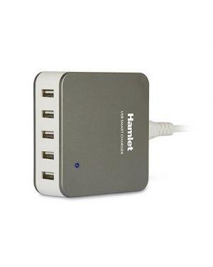 Usb charger 5 ports HAMLET XPWC540SLV 8000130591494 XPWC540SLV by Hamlet