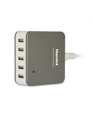Usb charger 5 ports HAMLET XPWC540SLV 8000130591494 XPWC540SLV