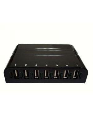 7 port usb 2.0 hub HAMLET XHUB7020AL 8000130591661 XHUB7020AL by Hamlet