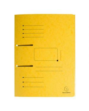 Cartellina 3 lembi  per raccoglitori con fori punchy giallo 447009