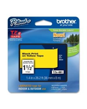 Cass da 36mm  nera su sfondo giallo Brother TZE661 4977766686778 TZE661